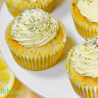 Ketogenic Lemon Poppy Seed Cupcakes.