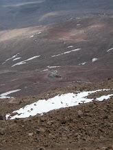 Photo: Refuge du Chimborazo, vu depuis 5250 m