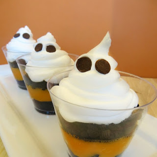 Ghost Pudding Cups