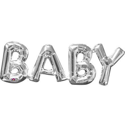 Folieballong - BABY silver