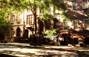Photo: New York City - summer light  On days like this, it's as if the rest of the world has slipped away with the winter somewhere past the visible horizon into the realm of distant memories.  On days like this, the sun exhales through the trees that spread their newly adorned limbs out in a welcoming embrace.  On days like this, the city lingers in a promise whispered on a warm breeze.  On days like this, the light is a dream that makes its way into reality.  On days like this, there is nothing else that matters.  —-   This image was taken this past weekend as I walked around Manhattan for hours soaking in the gorgeous weather. I have mentioned my severe brownstone envy in other posts before. I believe that townhouses fall under this same category. To re-iterate, I grew up in Queens (another borough of New York City), and the brownstones in Manhattan and Brooklyn tugged at my heart constantly. Their enormous doorways always seemed to be flanked by extravagant stairways and every window seemed to be a frame encapsulating an enticing painting.  There wasn't anything that came close to these beautiful works of architecture where I grew up in Flushing, Queens. And don't even get me started on the Cosby Show which added to my angsty brownstone envy on a weekly basis. I still stop in my tracks and swoon when I come across a particularly beautiful set of brownstones or townhouses. I imagine all of the narratives that could have possibly occurred in these fantastical works of architecture and it's enough to take me right back to feeling exactly how I did when I was growing up in Queens.  —-   I was super fortunate to get my hands on the Sony NEX-6 recently (which I used for this image). For those who don't know, the NEX series is quite popular as the NEXs are mirrorless interchangeable-lens cameras. This means that they are super compact and light (around 12 oz!). It felt odd carrying around a camera that weighed significantly less than most dSLRs and dSLTs and yet seems 