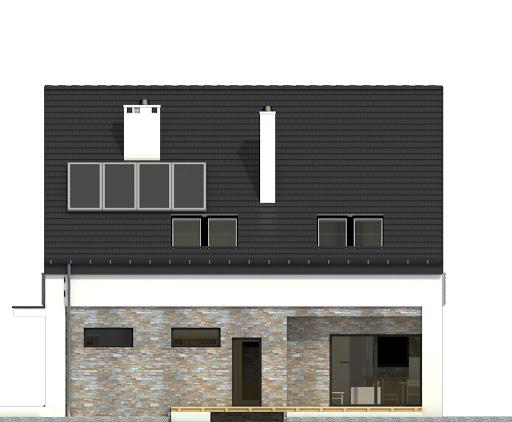 Bernikla z garazem 1-st. A - Elewacja tylna