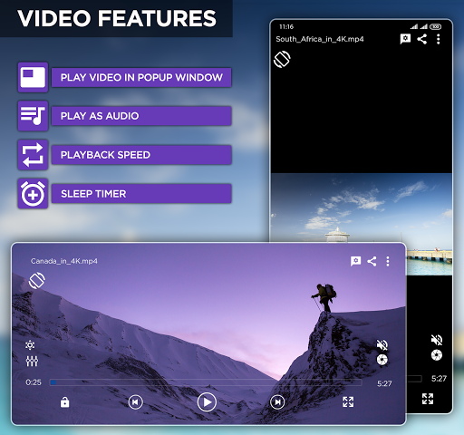 Mp4 HD Player - Music Player & Media Player screenshot 2