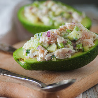 Tuna Salad Stuffed Avocado.