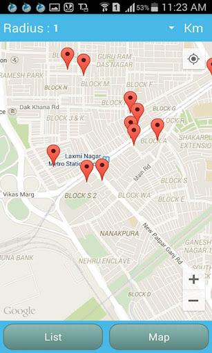 Near By Location Tracker