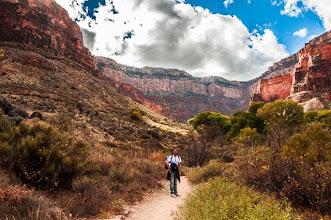 Photo: Daniele on Bright Angel Trail, up the South Rim of Grand Canyon Nation Park, Arizona, USA