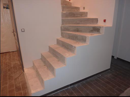 escalier rénovation béton ciré