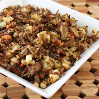 Corned Beef Hash With Cabbage and Carrots.