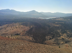 Photo: Atop Cinder Cone, view of Painted Dunes, Fantastic Lava Beds & Snag Lake
