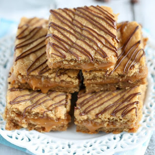 Caramel Stuffed Peanut Butter Blondies.