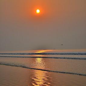 Sunrise by Abhijit Mukhopadhyay - Landscapes Beaches
