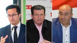 Desde la izquierda, Francisco Góngora (PP), José Miguel Alarcón (PSOE) y Juan José Bonilla (Vox)