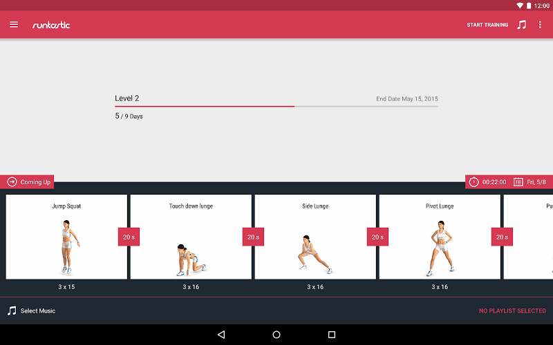 Runtastic Leg Trainer - Workouts & Exercises Screenshot 7