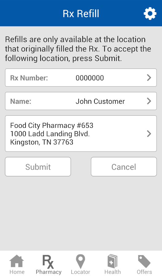 Food City Pharmacy Mobile App - screenshot