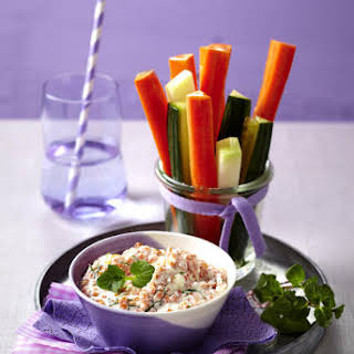 Lentil Dip with Crudités.