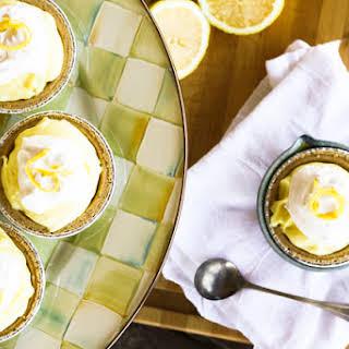 Lemon Cream No-Bake Mini-Cheesecakes.