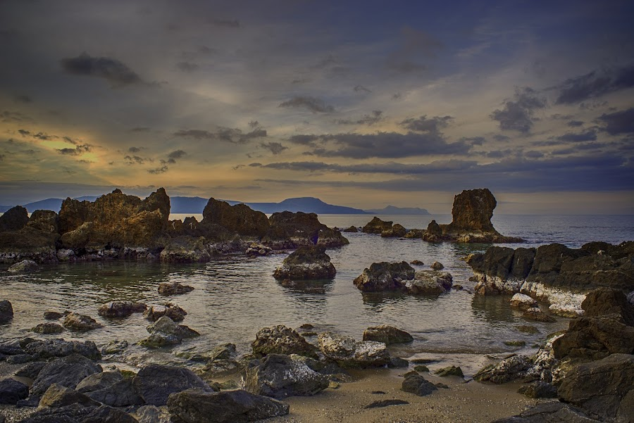 The perfect timing! by Stavros Troullinos - Landscapes Beaches ( sand, up close, hdr, nature, waterscape, greece, rethymno, crete, beach, landscape,  )