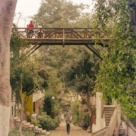 Puente de los Suspiros by Fico Stein Montagne - City,  Street & Park  Historic Districts ( historic district, barranco, road, nikon d7000, bridge, trees, people )
