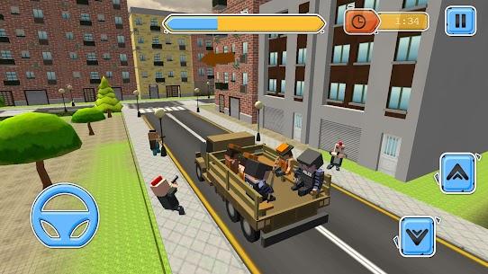 Blocky Vegas Crime Simulator:Prisoner Survival Bus 3