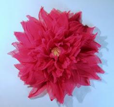Photo: Цветок из ткани - клематис