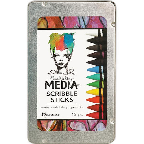 Dina Wakley Media Scribble Sticks 12/Pkg - Set 1