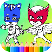 Masks Heroes Coloring Game