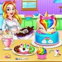 Unicorn Food Bakery Mania: Baking Games icon