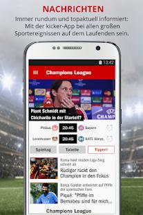 kicker Fußball News- screenshot thumbnail