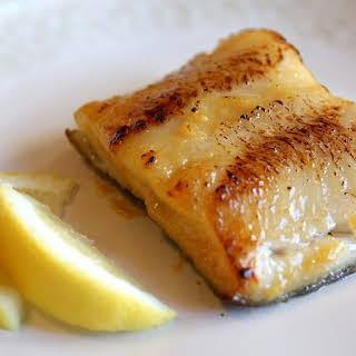 Miso-glazed broiled fish à la Nobu.