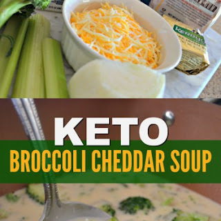 Keto Broccoli Cheddar Soup.