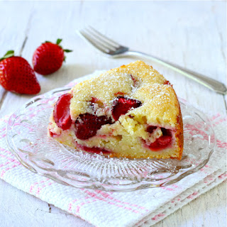Strawberry-Ricotta Cake.