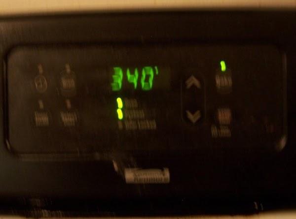 Preheat oven to 340.