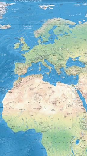 ドイツの世界地図