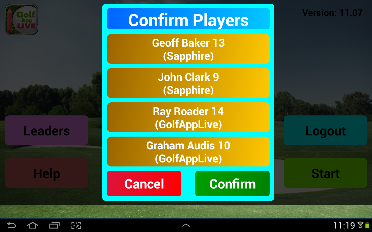 GolfAppLive- screenshot
