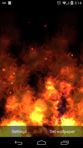 KF Flames Free Live Wallpaper screenshot 1