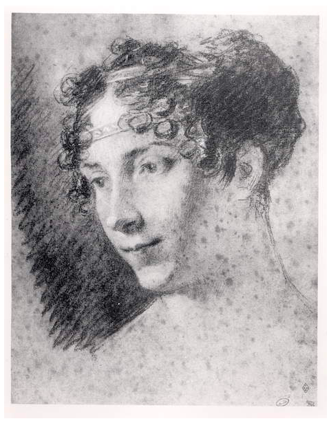 Image of Empress Josephine (1763 - 1814) (charcoal on paper), Prud'hon, Pierre - Paul (1758 - 1823) / Private Collection © Archives Charmet / Bridgeman Images
