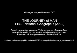 Photo: The Journey of Man DVD Tells the story behind the- National Geographic's Genographic Project https://genographic.nationalgeographic.com/genographic/atlas.html See Genographic Image Map and Evolution Slideshow at: http://evolution-involution.org
