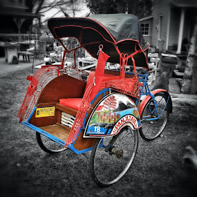 Bicycle Taxi by Geary LeBell - Instagram & Mobile iPhone ( tricycle, bike, taxi, transport, transportation, bicycle )