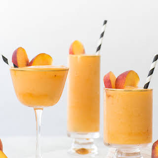 Stay Cool with our Frozen Peach Bellinis!.
