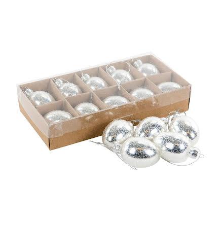 Ägg i glas silver 10 st