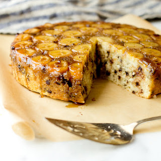 Upside-Down Banana Chocolate Chip Cake