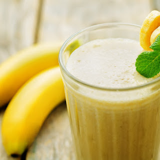 The Ultimate Thick Homemade Banana Milk Shake.