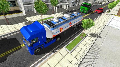Big Oil Tanker Truck US Oil Tanker Driving Sim screenshots 3