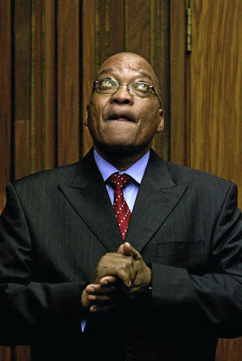 Jacob Zuma in the dock during his rape trial in the High Court in Johannesburg.