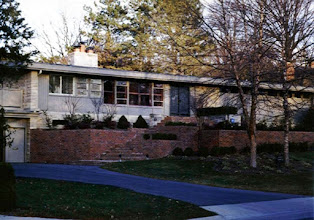 Photo: House on Seneca that Dad designed in 1955.  It looked much better when my parents lived there, when it had colors--Reds and blues-- not the dull grey the later owners painted it.