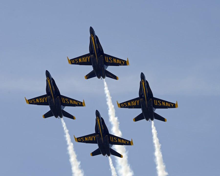 Diamond Formation by Bill Telkamp - Transportation Airplanes ( airplanes, airplane, blue angels, airshow,  )