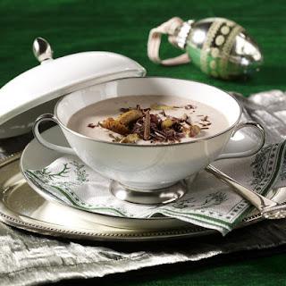 Wild Mushroom Soup with Ham