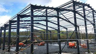 Recycling site construction work stops