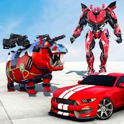 Hippo Robot Car Transform Battle-Rhino Robot Games