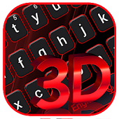 Classic 3D Red Black Keyboard Theme Android APK Download Free By The Best Android Themes